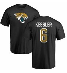 NFL Nike Jacksonville Jaguars #6 Cody Kessler Black Name & Number Logo T-Shirt