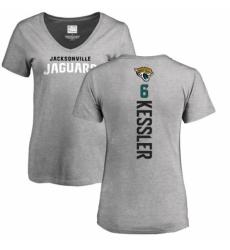 NFL Women's Nike Jacksonville Jaguars #6 Cody Kessler Ash Backer T-Shirt