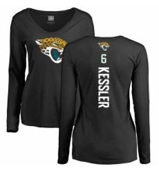 NFL Women's Nike Jacksonville Jaguars #6 Cody Kessler Black Backer Slim Fit Long Sleeve T-Shirt