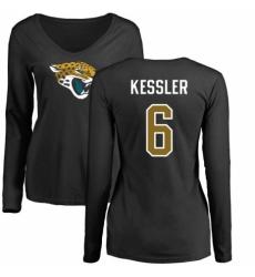 NFL Women's Nike Jacksonville Jaguars #6 Cody Kessler Black Name & Number Logo Slim Fit Long Sleeve T-Shirt