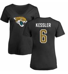NFL Women's Nike Jacksonville Jaguars #6 Cody Kessler Black Name & Number Logo Slim Fit T-Shirt