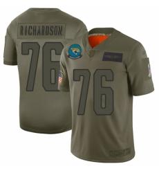 Men's Jacksonville Jaguars #76 Will Richardson Limited Camo 2019 Salute to Service Football Jersey