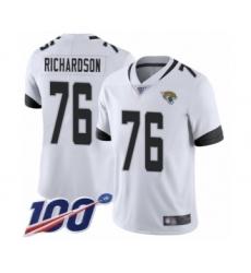 Men's Jacksonville Jaguars #76 Will Richardson White Vapor Untouchable Limited Player 100th Season Football Jersey