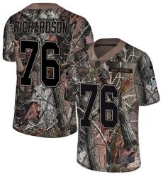 Men's Nike Jacksonville Jaguars #76 Will Richardson Camo Rush Realtree Limited NFL Jersey