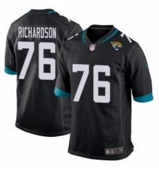 Men's Nike Jacksonville Jaguars #76 Will Richardson Game Teal Green Team Color NFL Jersey