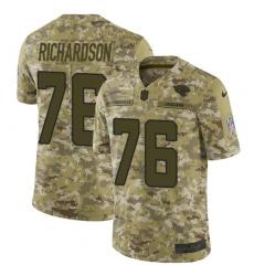 Men's Nike Jacksonville Jaguars #76 Will Richardson Limited Camo 2018 Salute to Service NFL Jersey