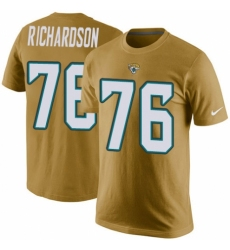 NFL Men's Nike Jacksonville Jaguars #76 Will Richardson Gold Rush Pride Name & Number T-Shirt