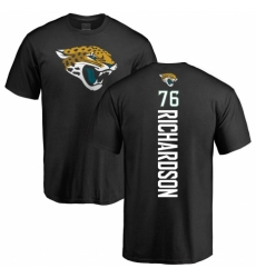 NFL Nike Jacksonville Jaguars #76 Will Richardson Black Backer T-Shirt