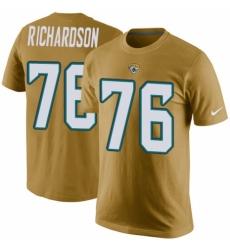 NFL Women's Nike Jacksonville Jaguars #76 Will Richardson Black Camo Salute to Service T-Shirt