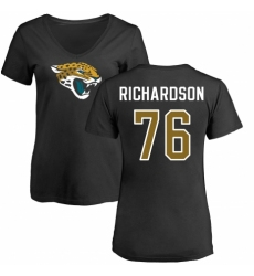 NFL Women's Nike Jacksonville Jaguars #76 Will Richardson Black Name & Number Logo Slim Fit T-Shirt
