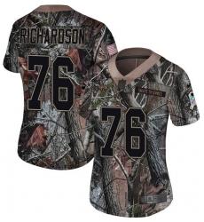 Women's Nike Jacksonville Jaguars #76 Will Richardson Camo Rush Realtree Limited NFL Jersey