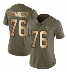 Women's Nike Jacksonville Jaguars #76 Will Richardson Limited Olive/Gold 2017 Salute to Service NFL Jersey
