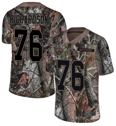Youth Nike Jacksonville Jaguars #76 Will Richardson Camo Rush Realtree Limited NFL Jersey