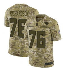 Youth Nike Jacksonville Jaguars #76 Will Richardson Limited Camo 2018 Salute to Service NFL Jersey