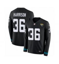 Men's Nike Jacksonville Jaguars #36 Ronnie Harrison Limited Black Therma Long Sleeve NFL Jersey