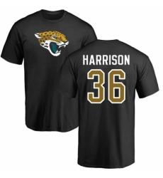 NFL Nike Jacksonville Jaguars #36 Ronnie Harrison Black Name & Number Logo T-Shirt