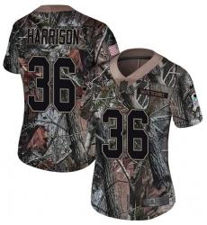 Women's Nike Jacksonville Jaguars #36 Ronnie Harrison Camo Rush Realtree Limited NFL Jersey