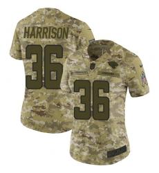 Women's Nike Jacksonville Jaguars #36 Ronnie Harrison Limited Camo 2018 Salute to Service NFL Jersey