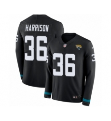 Youth Nike Jacksonville Jaguars #36 Ronnie Harrison Limited Black Therma Long Sleeve NFL Jersey