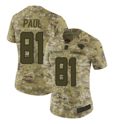 Women's Nike Jacksonville Jaguars #81 Niles Paul Limited Camo 2018 Salute to Service NFL Jer