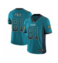 Youth Nike Jacksonville Jaguars #81 Niles Paul Limited Teal Green Rush Drift Fashion NFL Jersey