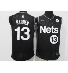 Men's Nike Brooklyn Nets #13 Dzanan Musa Black Jersey