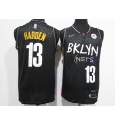 Men's Nike Brooklyn Nets #13 Dzanan Musa Swingman Black Jersey
