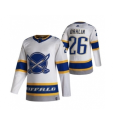 Men's Buffalo Sabres #26 Rasmus Dahlin White 2020-21 Reverse Retro Alternate Hockey Jersey