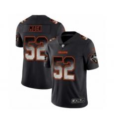 Men Chicago Bears #52 Khalil Mack Black Smoke Fashion Limited Jersey