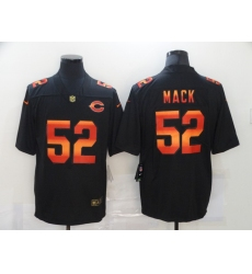 Men's Chicago Bears #52 Khalil Mack Black colorful Nike Limited Jersey