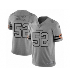 Men's Chicago Bears #52 Khalil Mack Limited Gray Team Logo Gridiron Football Jersey