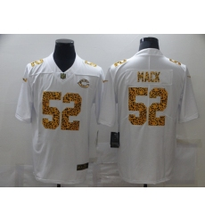 Men's Chicago Bears #52 Khalil Mack White Nike Leopard Print Limited Jersey