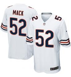 Men's Nike Chicago Bears #52 Khalil Mack Game White NFL Jersey