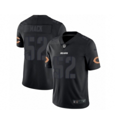 Men's Nike Chicago Bears #52 Khalil Mack Limited Black Rush Impact NFL Jersey