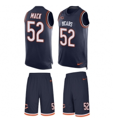 Men's Nike Chicago Bears #52 Khalil Mack Limited Navy Blue Tank Top Suit NFL Jersey