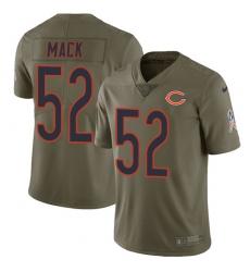 Men's Nike Chicago Bears #52 Khalil Mack Limited Olive 2017 Salute to Service NFL Jersey