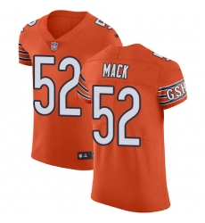 Men's Nike Chicago Bears #52 Khalil Mack Orange Alternate Vapor Untouchable Elite Player NFL Jersey