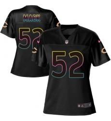 Women's Nike Chicago Bears #52 Khalil Mack Game Black Fashion NFL Jersey