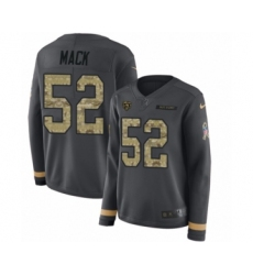 Women's Nike Chicago Bears #52 Khalil Mack Limited Black Salute to Service Therma Long Sleeve NFL Jersey