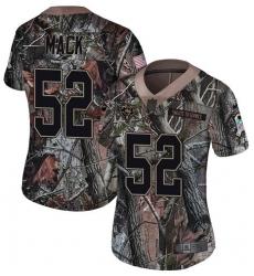 Women's Nike Chicago Bears #52 Khalil Mack Limited Camo Rush Realtree NFL Jersey