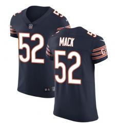 Women's Nike Chicago Bears #52 Khalil Mack Limited Navy Blue Rush Vapor Untouchable NFL Jersey