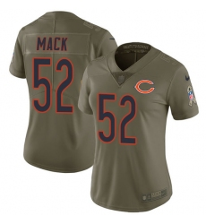 Women's Nike Chicago Bears #52 Khalil Mack Limited Olive 2017 Salute to Service NFL Jersey