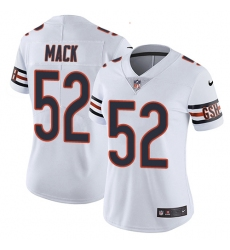 Women's Nike Chicago Bears #52 Khalil Mack White Vapor Untouchable Limited Player NFL Jersey