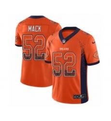 Youth Nike Chicago Bears #52 Khalil Mack Limited Orange Rush Drift Fashion NFL Jersey