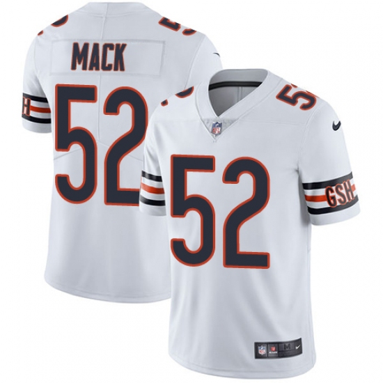 Youth Nike Chicago Bears #52 Khalil Mack White Vapor Untouchable Limited Player NFL Jersey