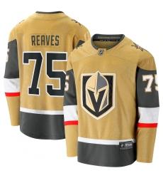 Men's Vegas Golden Knights #75 Ryan Reaves Fanatics Branded Gold 2020-21 Alternate Premier Breakaway Player Jersey