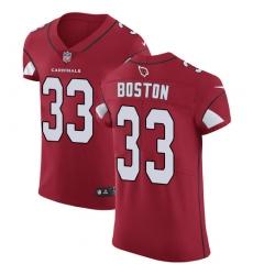 Men's Nike Arizona Cardinals #33 Tre Boston Red Team Color Vapor Untouchable Elite Player NFL Jersey