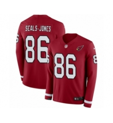 Men's Nike Arizona Cardinals #86 Ricky Seals-Jones Limited Red Therma Long Sleeve NFL Jersey