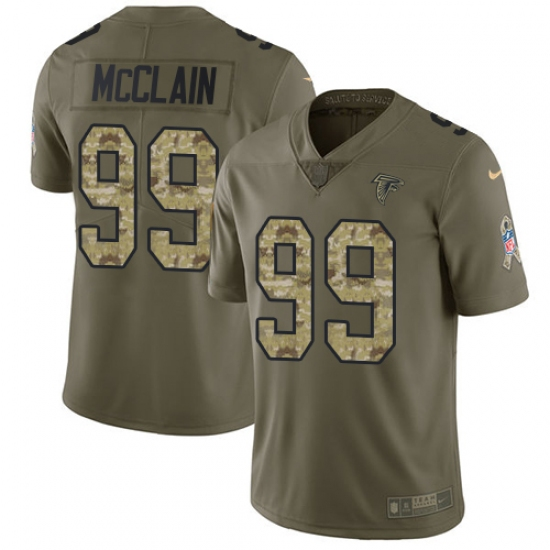 Men's Nike Atlanta Falcons #99 Terrell McClain Limited Olive Camo 2017 Salute to Service NFL Jersey