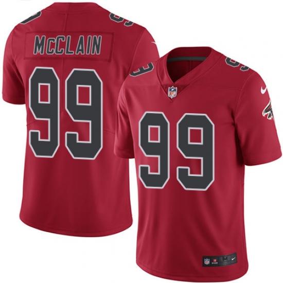 Men's Nike Atlanta Falcons #99 Terrell McClain Limited Red Rush Vapor Untouchable NFL Jersey